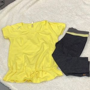 Lucy workout top and capris